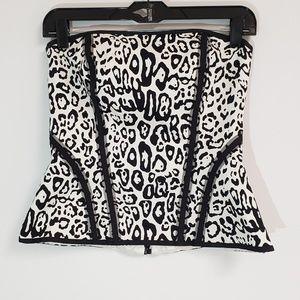 WHBM Animal Print corset/bustier top